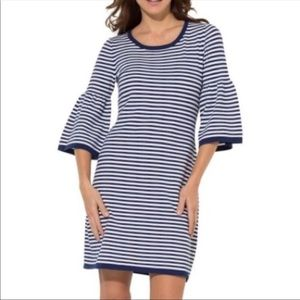 NWT SAIL TO SABLE BELL SLEEVE KNIT DRESS - XS